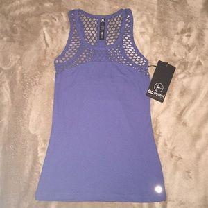 90 degrees by reflex woman's xs top in dusty blue